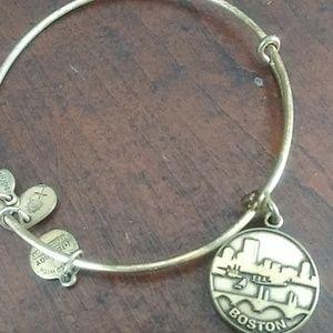 Alex and ani goldtone bracelet